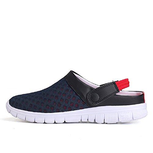Peggie House Cómodo Casual sandalias de caminata al aire libre Azul Rojo