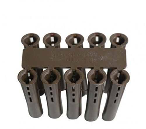 500 x Brown Plastic Rawl Wall Plugs, Drill Size: 7mm, Screw Size: 4-5mm GENERIC