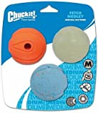 Chuckit Fetch Medley Ball Triple Pack Dog Toys, Medium 2.5 inch