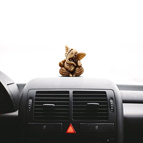Craftvatika Lord Ganesha Statue Car Dashboard Decor