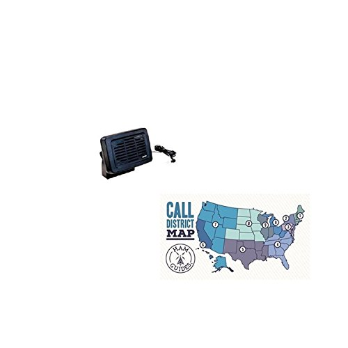 Yaesu Mobile Speaker W/MT Bracket and Ham Guides TM Pocket Reference Card Bundle
