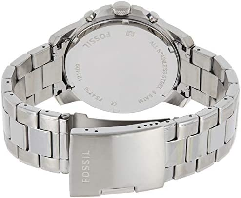 Fossil Men's Grant Quartz Stainless Chronograph Watch, Color: Silver (Model: FS4736IE) WeeklyReviewer