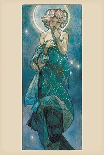 Alphonse Mucha-Moon, Art Poster Print