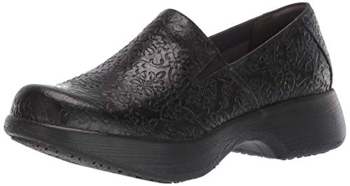 Dansko Women's Winona Loafer Flat, Black Tooled Leather, 40 M EU (9.5-10 US)