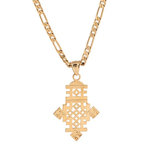 Brass Pendant Jewelry (Africa Gold Necklace Ethiopian African Gold Wedding Cross Pendant Jewelry)