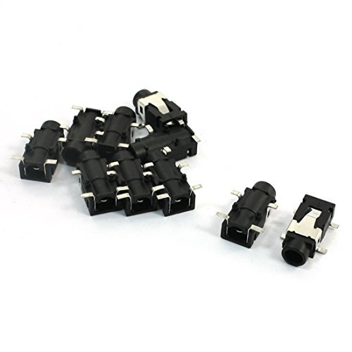Amazon.com: eDealMax 4-Pin SMT SMD estéreo del auricular DE 3.5mm Para auriculares zócalo Negro 10pcs: Electronics