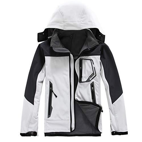 Cappuccio Antivento Impermeabile Con White Cappotto Da Uomo nZ8x4nqXf