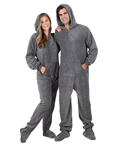 Footed Pajamas - Howling Moon Adult Hoodie One Piece - Medium (Hoody Adult)