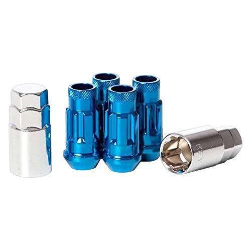 Blue Wheelmate 32902U Muteki SR48 Open End Locking Lug Nut Set of 4 48mm 12 x 1.50