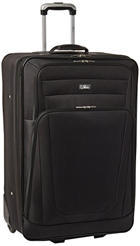 Skyway Luggage Epic 28 Inch 2 Wheel Expandable Upright, Black, One Size