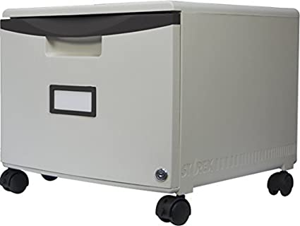 Storex Single Drawer Mini File Cabinet With Lock/Casters, 18.25 X 14.75 X  12.75