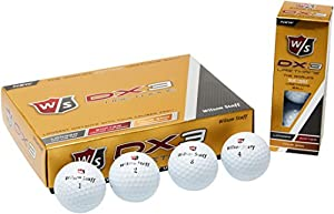 Wilson Staff Golf Golfbälle W/S DX3 URETHANE 12 BALL, weiß, One size, WGWP39200