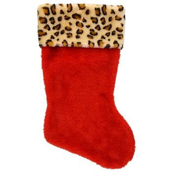Homemade Santa Costumes For Kids (NEW Hot SELLER Toddler Kids Teens Christmas Plush 16 in. Stocking Holiday Red Santa Stockings Leopard)