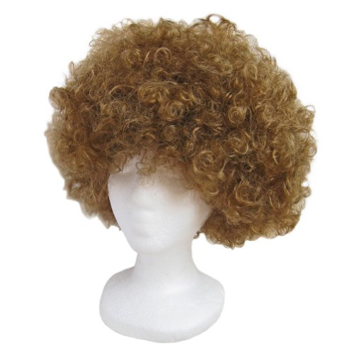 SeasonsTrading Economy Brown Afro Wig ~ Halloween Costume Party Wig (STC13034) (Hippie Dress Up)