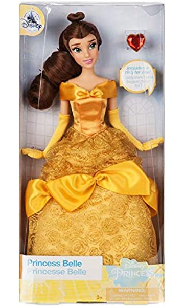 e62691fe9e7e Disney Store Belle Classic Doll with Ring - Beauty and the Beast - 11 1/