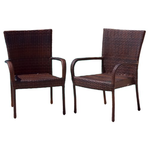 BEST Outdoor Wicker Chairs, 2-Pack
