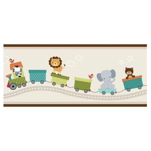Bedtime Originals Wallpaper Border, Choo Choo (Train Wallpaper Border)