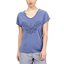 Icebreaker Merino Women's Aria Short Sleeve V neck Tee Wing graphic