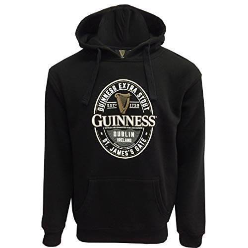 Guinness Black Label St. James Gate Hoodie (Black, - Gate St James Guinness