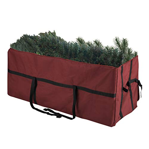 (Elf Stor 83-DT5055 Heavy Duty Canvas Christmas Storage Bag Large for 7.5 Foot Tree, Red)