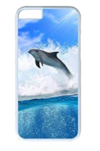 For Iphone 4/4S Case Cover -Dolphin Wave3 Polycarbonate Hard Case Back For Iphone 4/4S Case Cover White