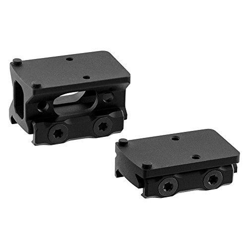 (UTG Leapers MT-RMRKIT Inc Super Slim Picatinny RMR Mount 2 in 1 Combo, Black)