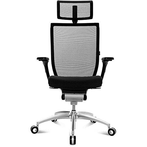 Wagner Titan 10 Bürodrehstuhl, Kopfstütze und Armlehnen optional - Mit Kopfstütze | Mit Armlehnen | Mattverchromt | TBX Stoffbezug, 100 % Xtreme FR