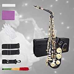 Introductions: This GLARRY saxophone is equipped with shell buttons, it gives you comfortable touch. It is easy to play and has a pleasing vibrant feel with a well-centered sound.The saxophone is suitable for numerous musical forms, including...