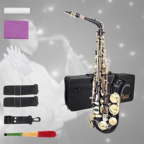 Glarry Student Alto Eb E-flat SAX Saxophone Gold Lacquer SAX