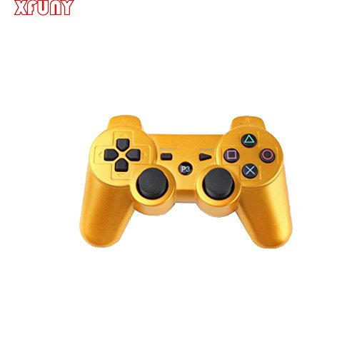 Effects(TM) New Wireless Bluetooth Six Axis Dualshock Game Controller for Sony PS3(Gold)