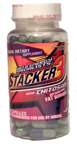 Stacker 3 Le métabolisme Fat Burner avec du chitosane, Capsules, 100-Count Bottle