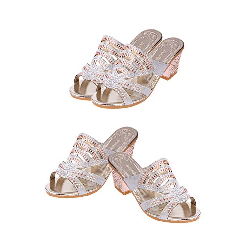 chengniu zapatillas Zapatos de playa Casual Chanclas Plata