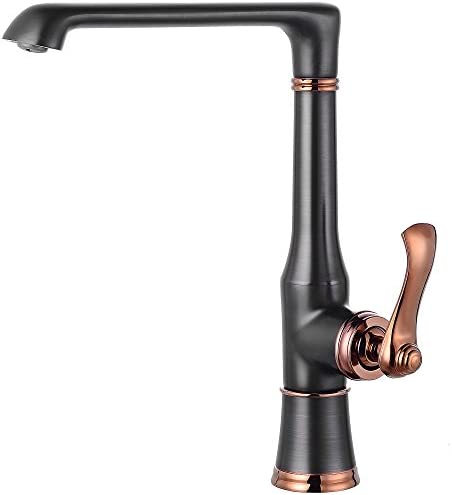 MYHB DS051 360 Swivel Kitchen Sink Faucet Modern Elegant Single Handle Mixer Tap, Oil Rubbed Bronze