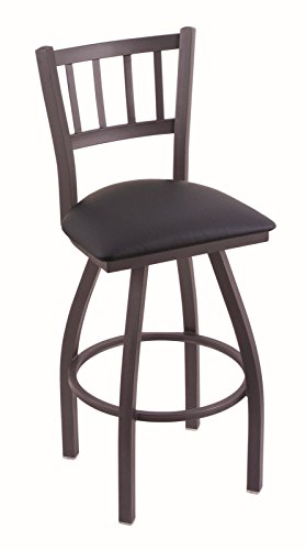 41eWXVZoIsL - Holland-Bar-Stool-Co-810-Contessa-30-Bar-Stool-with-Pewter-Finish-and-Swivel-Seat-Allante-Dark-Blue