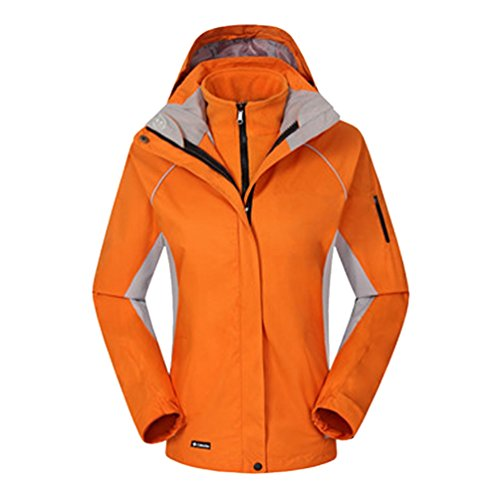 Travail Et Jacket Zkoo Mountain Imperméable Sport Orange Coupe Trekking Femmes Softshell De 2 Couches Veste vent Polaire Hiver Ski Chasse Automne 6fC6ZqxTw