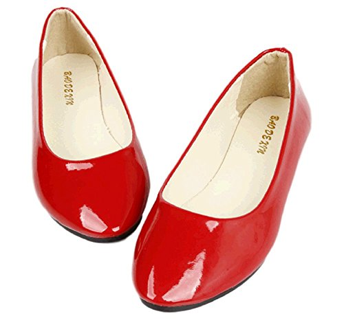 Sagittarius.kyt Kiki's Delivery Service cosplay women's Flat Shoes Halloween Parade Christmas (8, red)