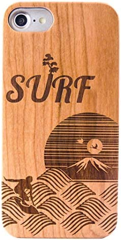 MKGCASE iPhone7 ちょっと大人な 日本の美Series Japanese Surf natural cherry wood + PC-polycarbonate 耐久性UP ウッドケース
