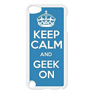 Keep Calm Geek On iPod Touch 5 Case White J9904848