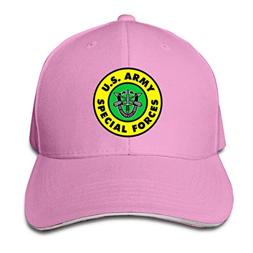 - Army Special Forces Insignia Adjustable Hat Baseball Cap Sandwich Cap Pink