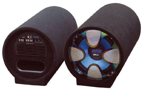 PYLE PLTAB10 10-Inch 500 Watt Amplified Subwoofer Tube ()