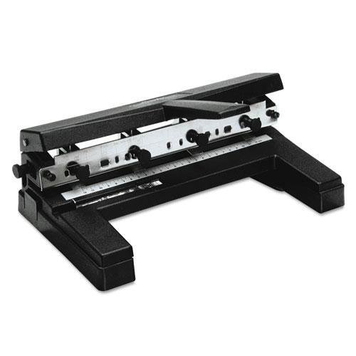 """40-Sheet Two- to Four-Hole Adjustable Punch, 9/32"""" Holes, Bl"""