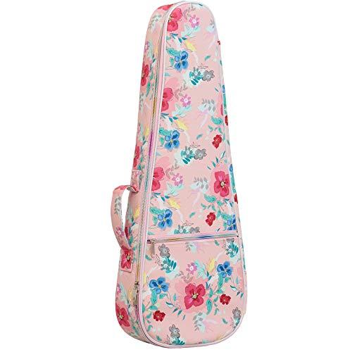 ZHRUNS Leather tarpaulin ukulele bag Ukulele box ukulele cover thick lining, flower pattern (26 inches)