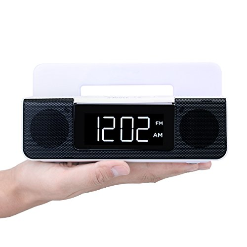 tivdio rt 4504 fm dual alarm clock radio with usb charging for smartphones battery backup led. Black Bedroom Furniture Sets. Home Design Ideas