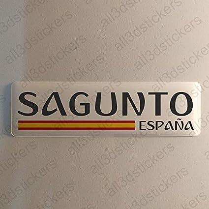 Pegatina Sagunto España Resina, Pegatina Relieve 3D Bandera ...