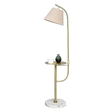 Home Mall- Lámpara de Pie Moderna, con Bandeja de Metal y Base de ...
