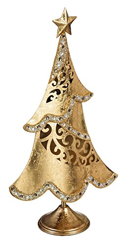 cypress home jeweled gold christmas tree table top decor - Cypress Christmas Tree