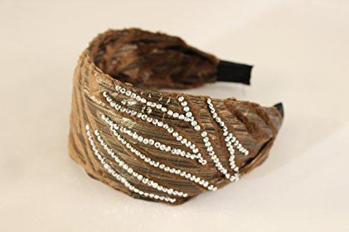 Great Gatsby / Flapper Inspired Handmade Fashion Headband / Hairband w Rhinestones