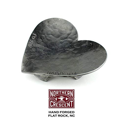 (Hand Forged Heart Ring Dish, Anniversary Gift For Her, Mother's Day Gift, 6th Anniversary Gift, Gift For Wife, Gift For Mom, Gift For Girlfriend)