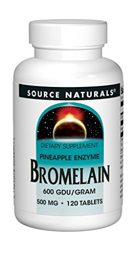Source Naturals Bromelain 600 GDU -- 120 Tablets (Cleanse 120 Tablets)