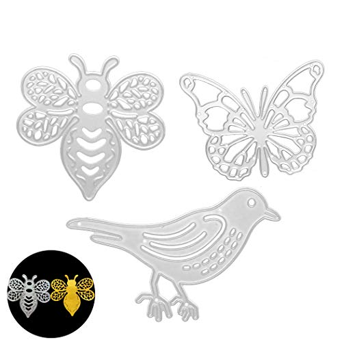 Cutting Die, Creatiee Bee Honeybee Metal Embossing Stencils| Butterfly Stencil Template Mould|Bird DIY Craft Scrapbooking for DIY Embossing Photo Album Decorative DIY Paper Cards ()